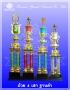 ถ้วยรางวัล Trophy 4 เสา ฐานดำ